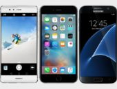 Смартфоны Samsung, Apple iPhone и Huawei