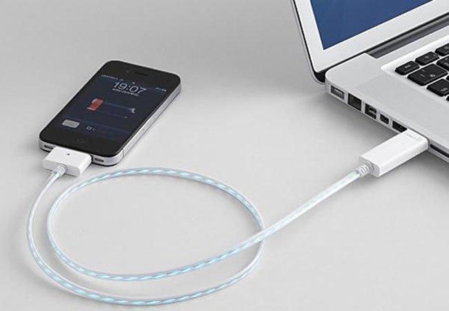 Компьютер и устройство, соединённые USB кабелем