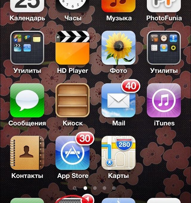 Главное меню iPhone