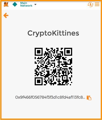 Пополнение кошелька для Cryptokitties