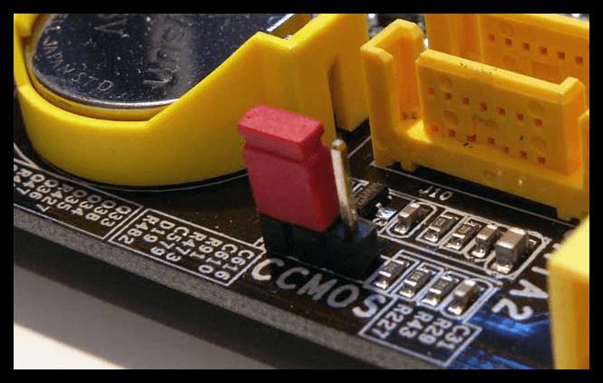 Сброс настроек CMOS в ПК для входа в БИОС