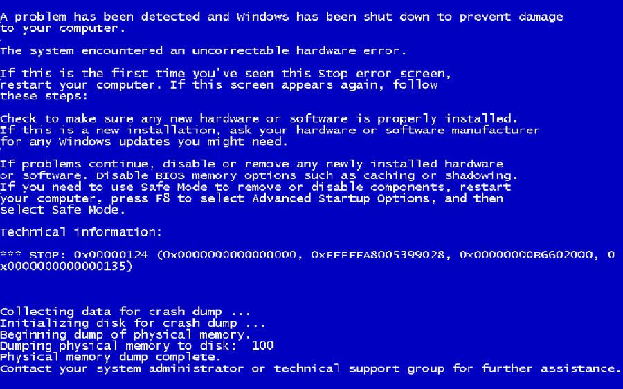 «Синий экран смерти» Windows