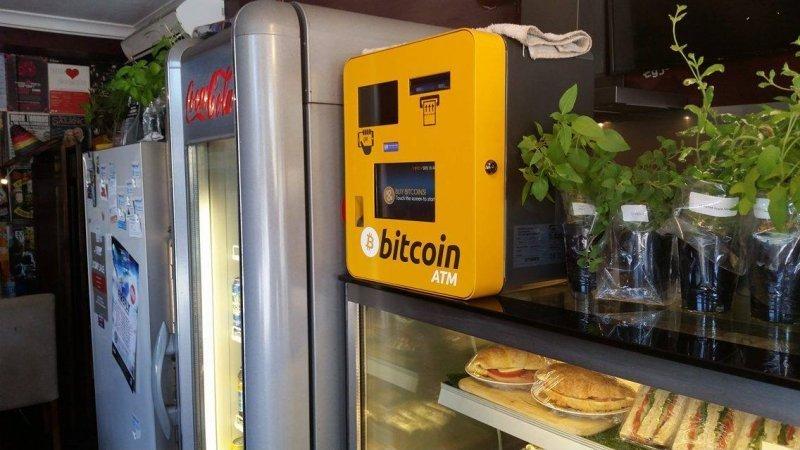 Принимающий биткоины автомат