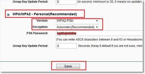 Смена пароля в роутерах TP-Link