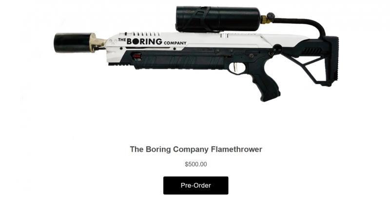 Знаменитый огнемет Илона Маска можно собрать в домашних условиях