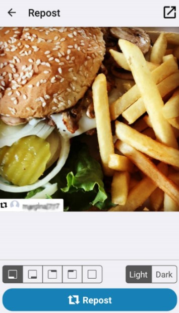 Репост фото в Инстаграм