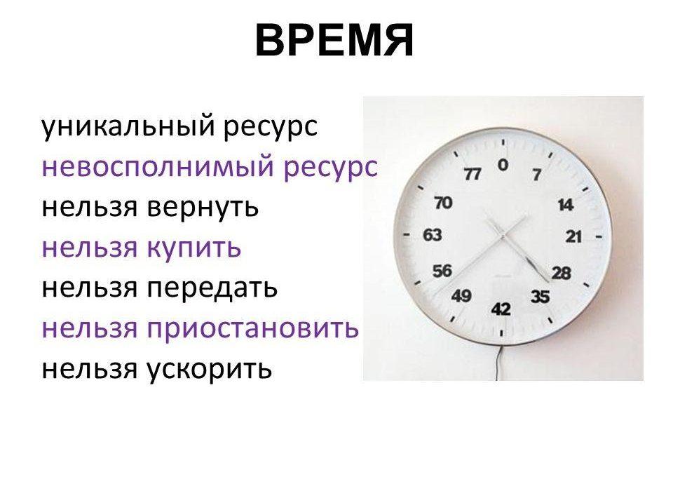 Уникальный ресурс — время