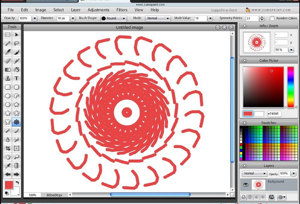 Инструменты рисования Sumopaint