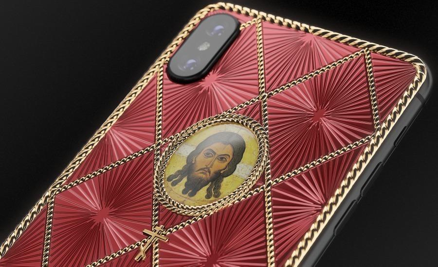 iPhone в стиле Фаберже с изображением Иисуса Христа