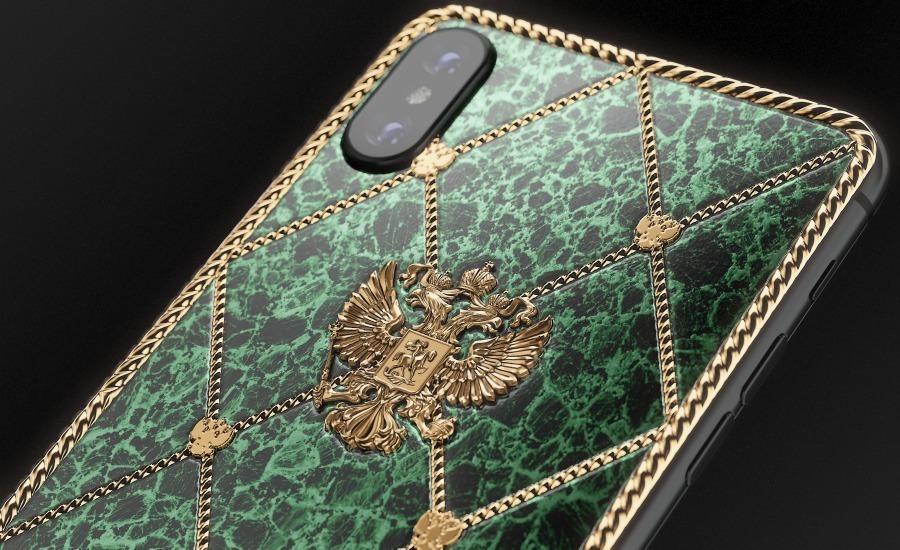 iPhone в стиле Фаберже с изображением герба России