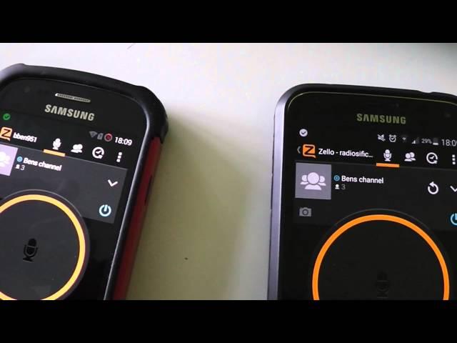 Приложение Zello на смартфонах