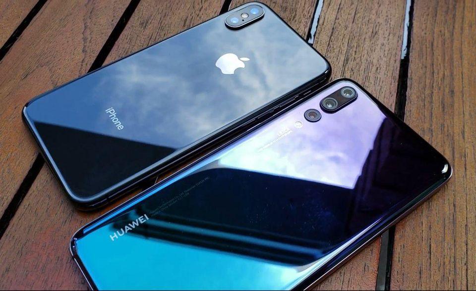 Смартфоны iPhone и Huawei
