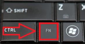 Клавиша FN на клавиатуре