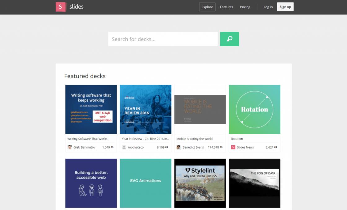 Веб-программа Slides
