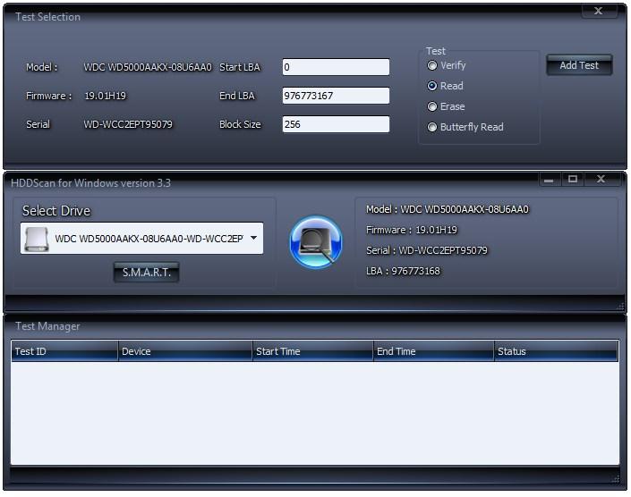 Проверка жесткого диска в программе HDDScan