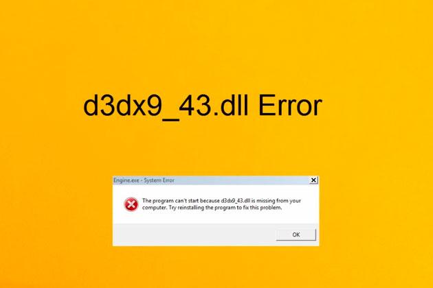 Ошибка отсутствия d3dx9_43.dll на компьютере: что значит, как исправить