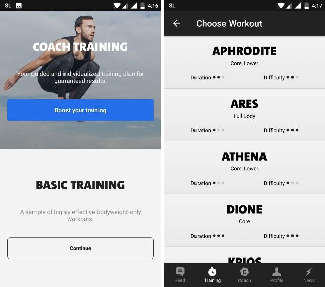Мобильное приложение Freeletics Bodyweight