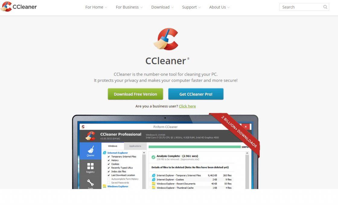 Сайт CCleaner