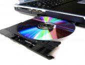 Диск в DVD-приводе