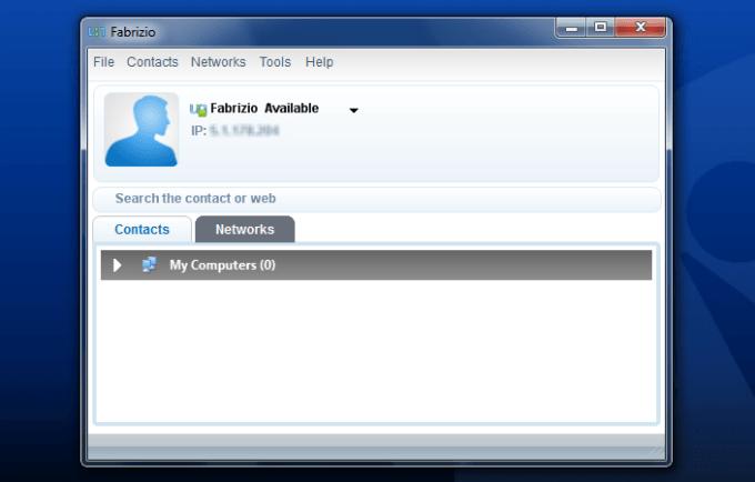 Главный экран приложения Comodo Unite