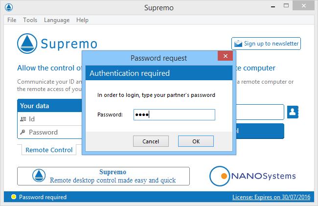 Интерфейс Supremo Remote Desktop