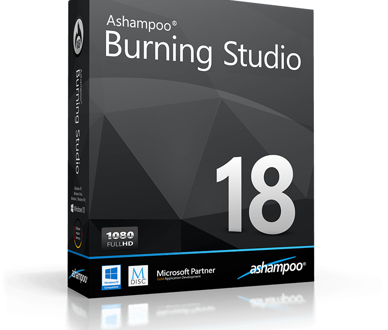 Программа Ashampoo Burning Studio в коробке