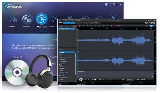 Работа со звуком в программе CyberLink Power2Go