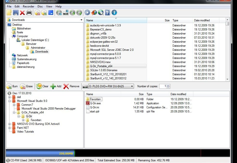 Программа CDBurner XP