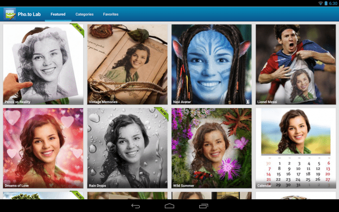 Приложение для обработки фото на Андроид Photo Lab