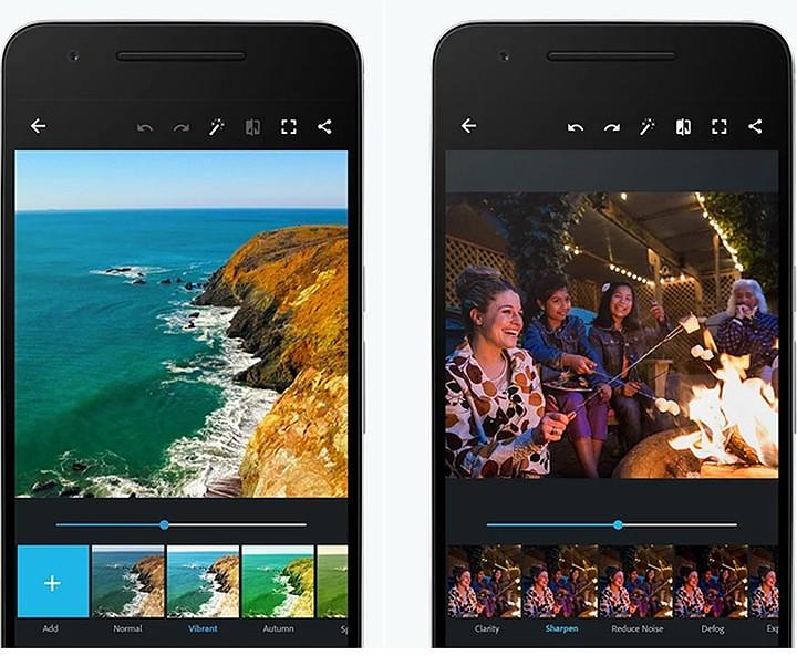 Приложение для обработки фото на Андроид Adobe Photoshop Express