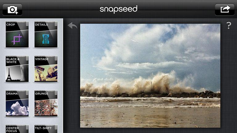 Приложение SnapSeed для работы с изображениями на iPhone
