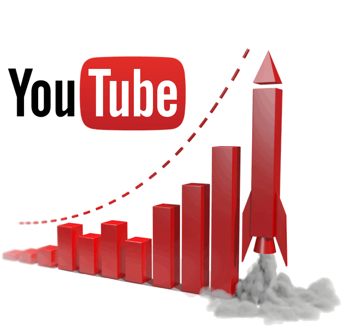 Схематичное изображение увеличения трафика на YouTube