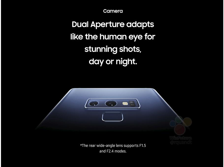 Камера Samsung Galaxy Note 9