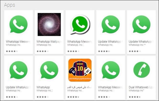 Оригинальное и поддельные приложения WhatsApp
