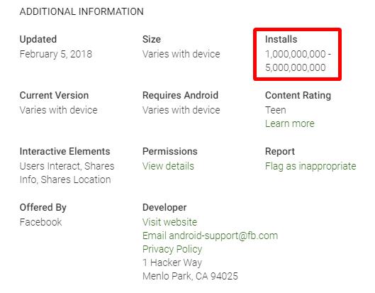 Информация о скачивании приложения из Play Store