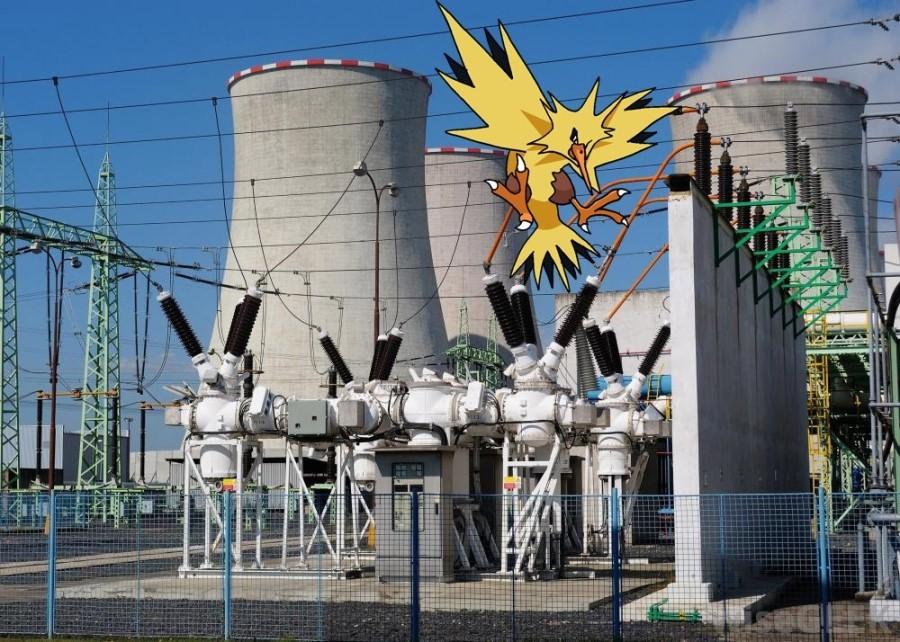 Локация покемонов на электростанции