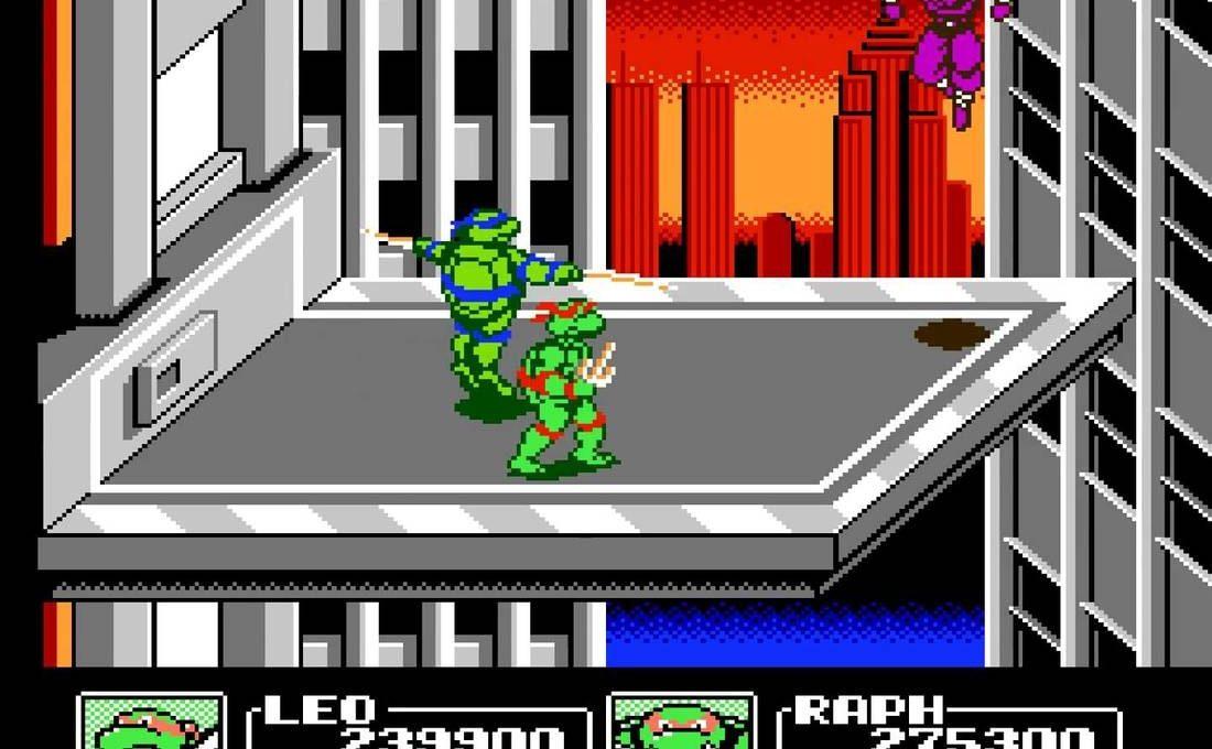 Игра Денди Teenage Mutant Ninja Turtles