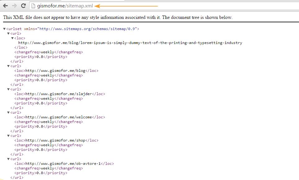 XML в браузере