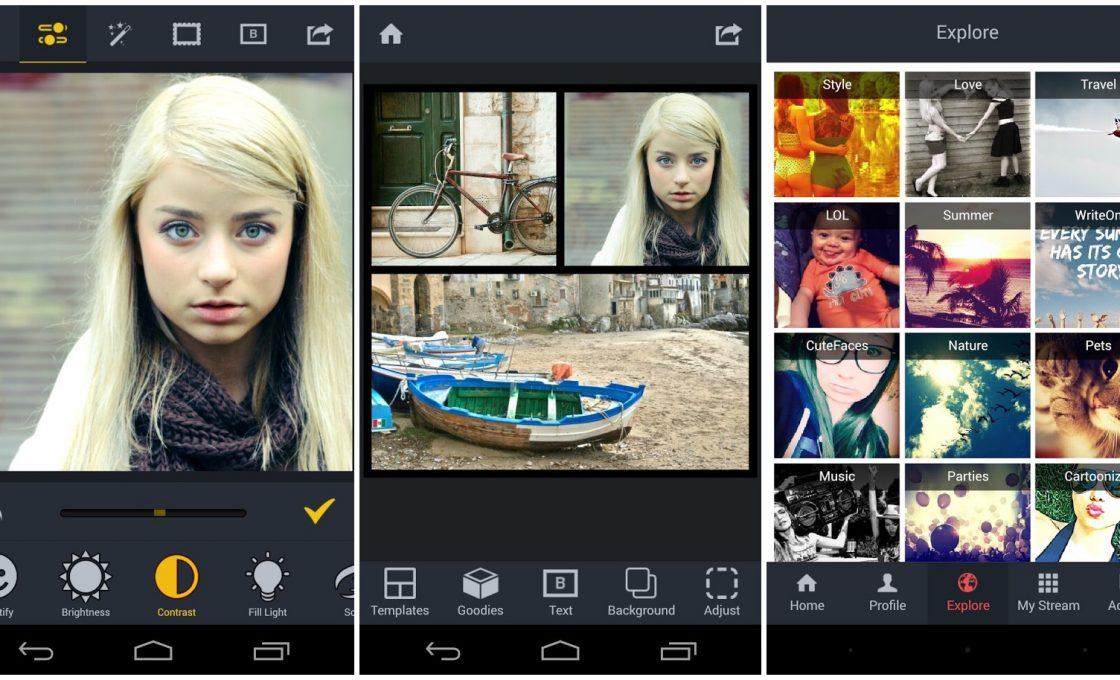 Приложение для обработки изображений на Андроиде BeFunky Photo Editor