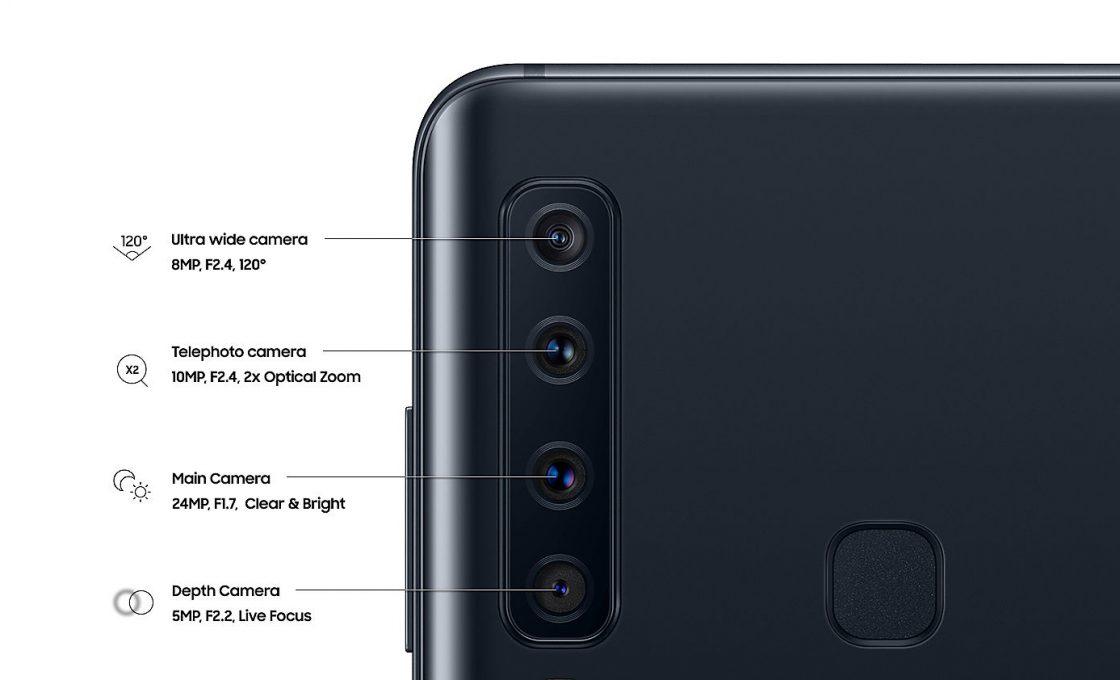 Четыре камеры Samsung Galaxy A9