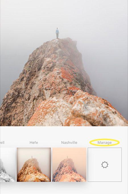 Выбор фильтра для фото в Инстаграме