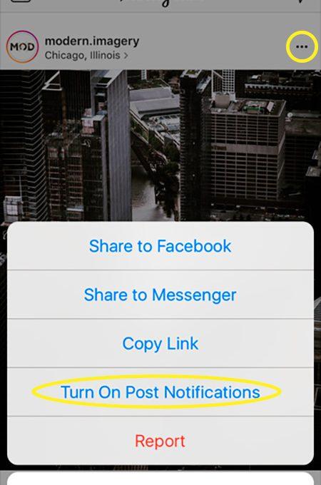 Подписка на уведомления в Инстаграме