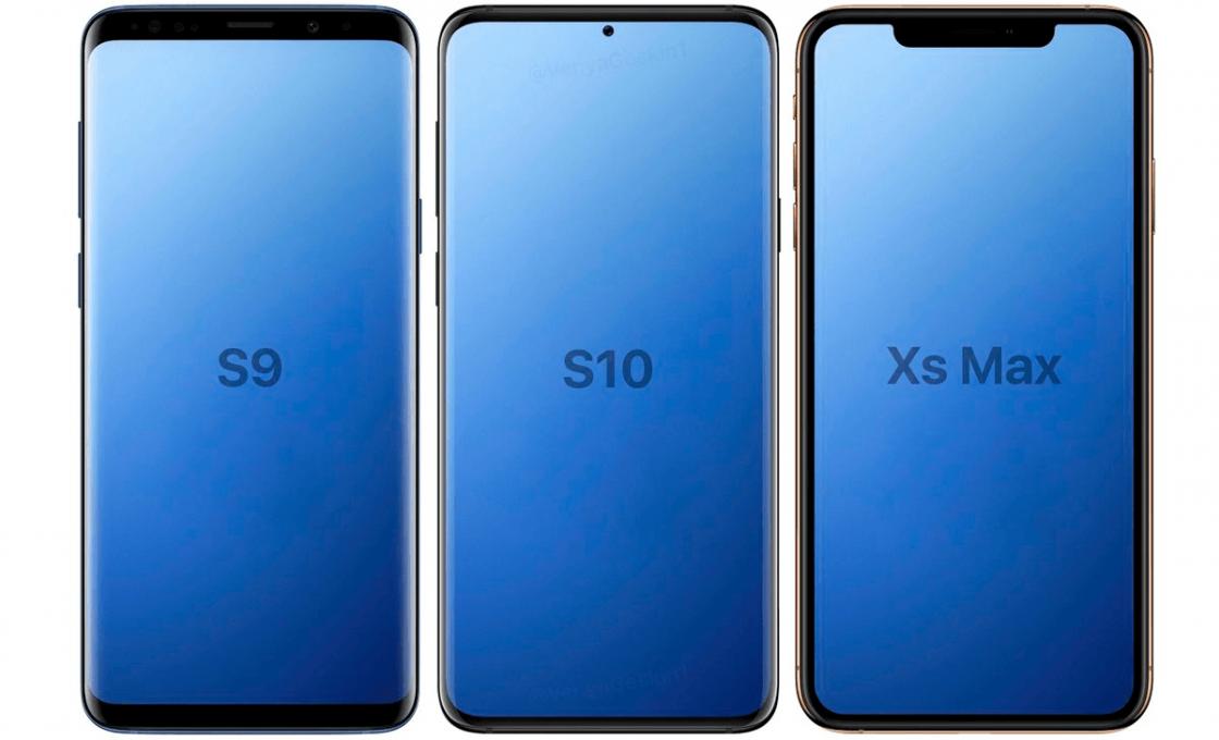 Samsung Galaxy S10 в сравнении с S9 и iPhone XS Max