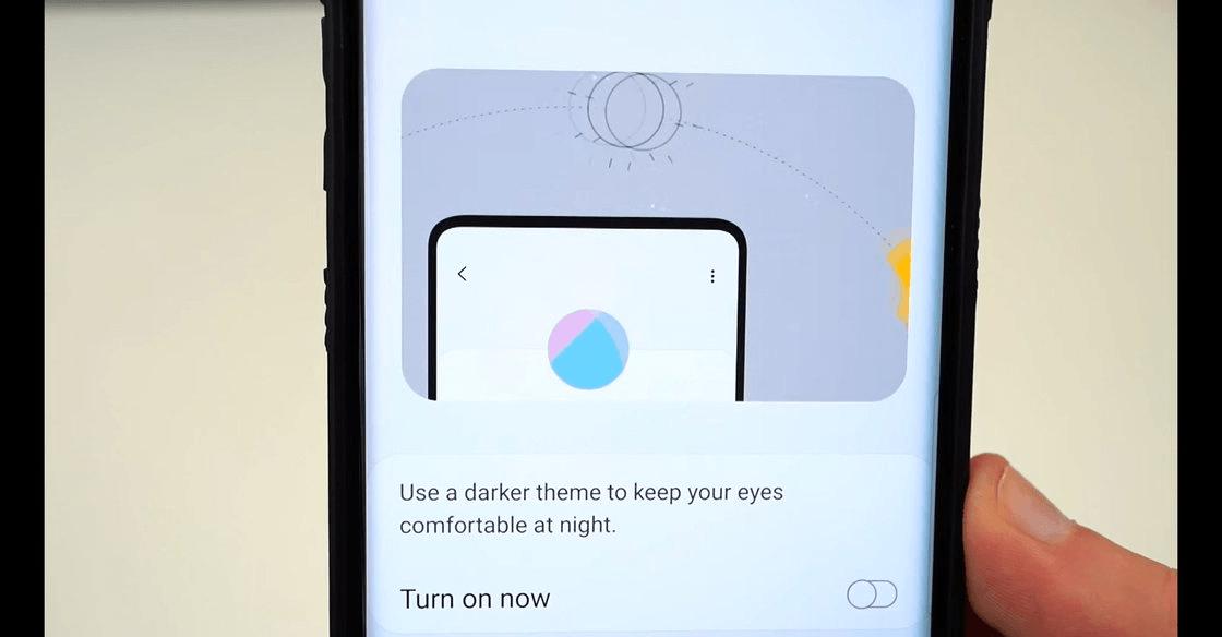 Изображение Samsung Galaxy S10 в Android 9