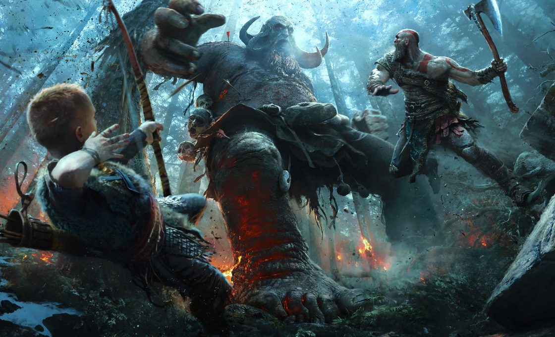 Кадр из игры God of War
