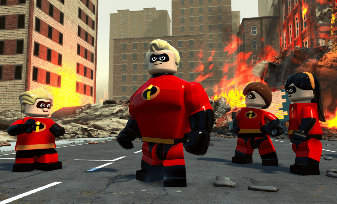 Кадр из игры Lego The Incredibles