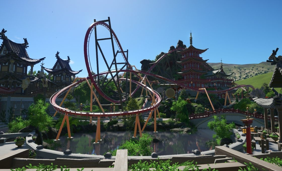 Кадр из игры Planet Coaster