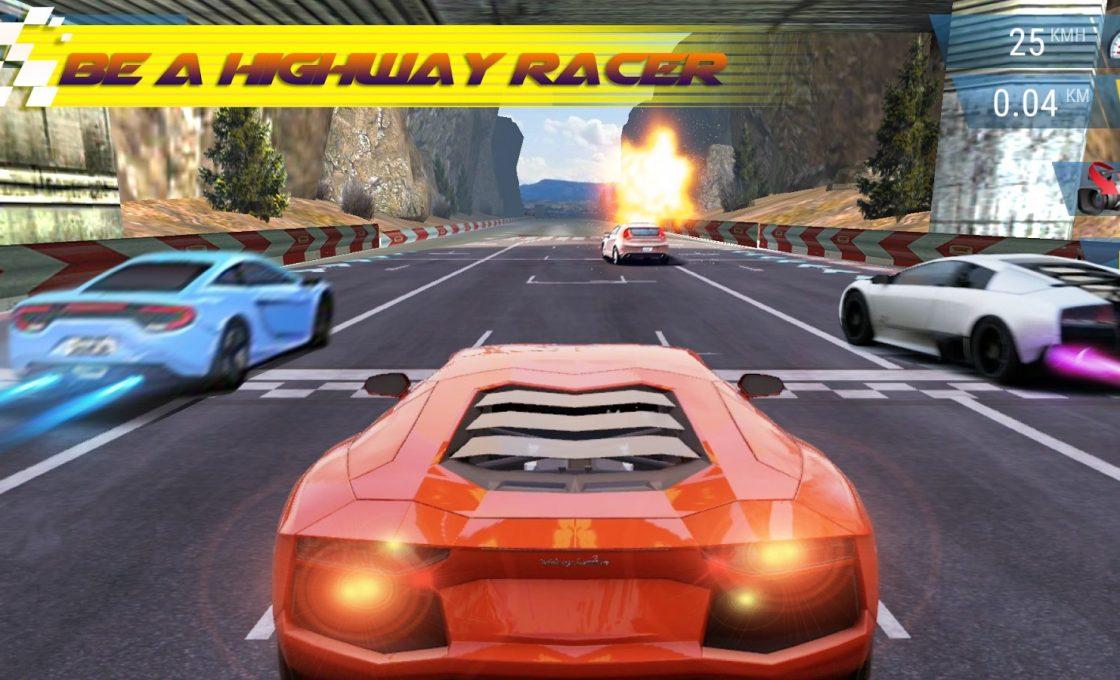 Кадр из игры Highway Racer 3D