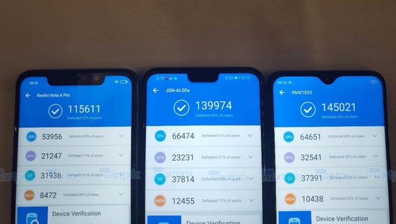 Результаты тестирования Oppo Realme U1 в Antutu