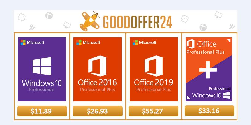 Windows-10-pro в магазине Goodoffer24.com